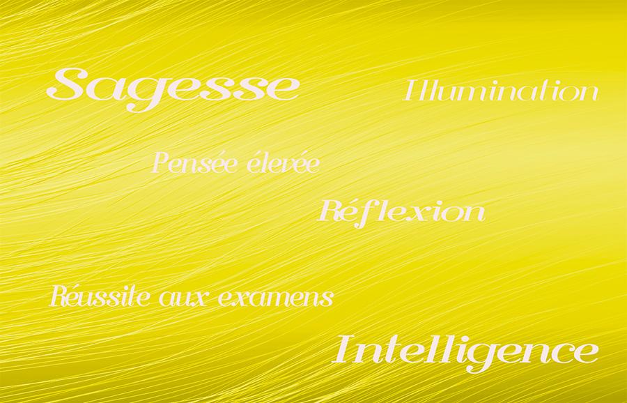 sept rayons sacrés - jaune - vendée