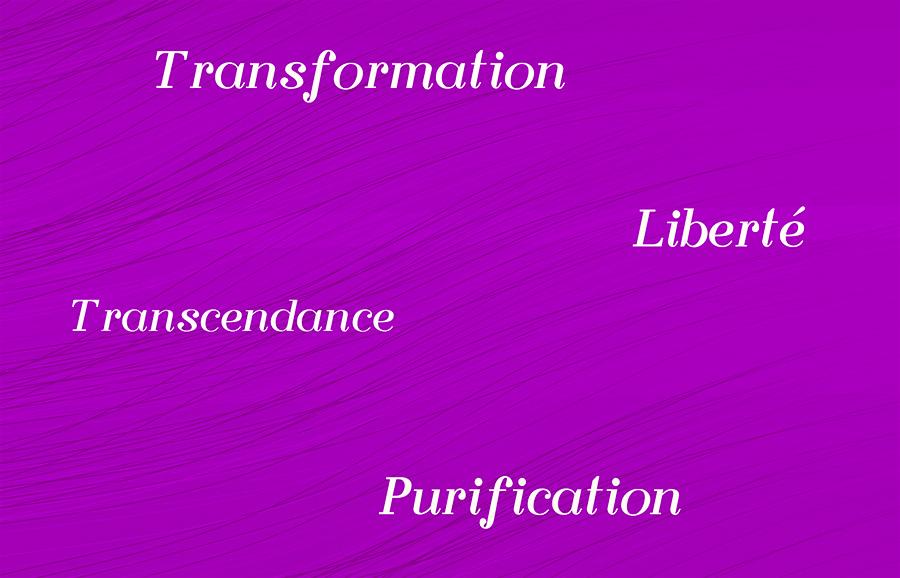sept rayons sacrés - violet - vendée